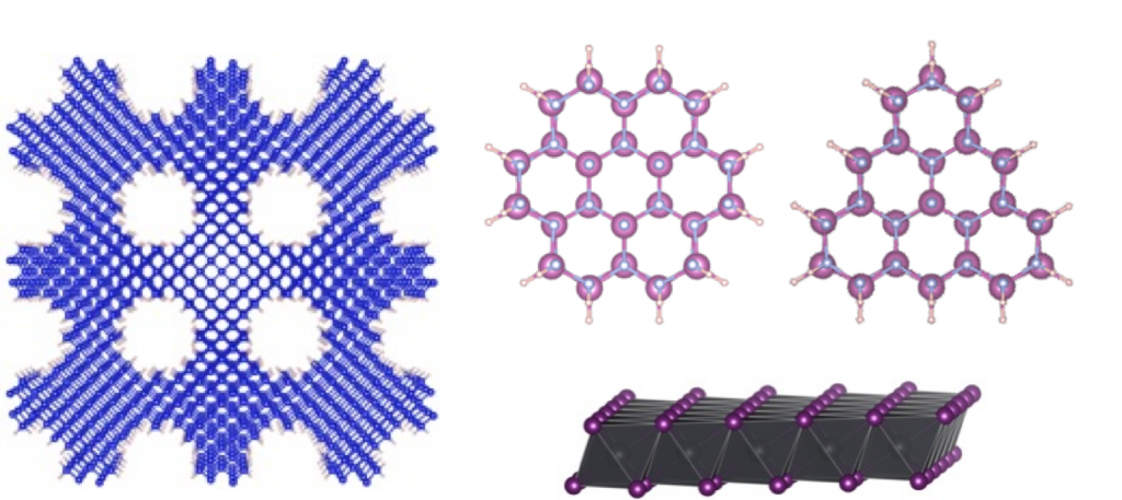The Kioupakis group uses high-performance computing to predictively model the electronic and optical properties of semiconductor nanostructures such as nanoporous silicon, nitride nanowires, and novel 2D materials.