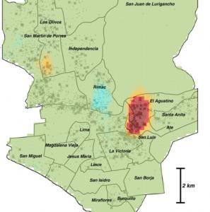 Tuberculosis hotspot in Lima, Peru