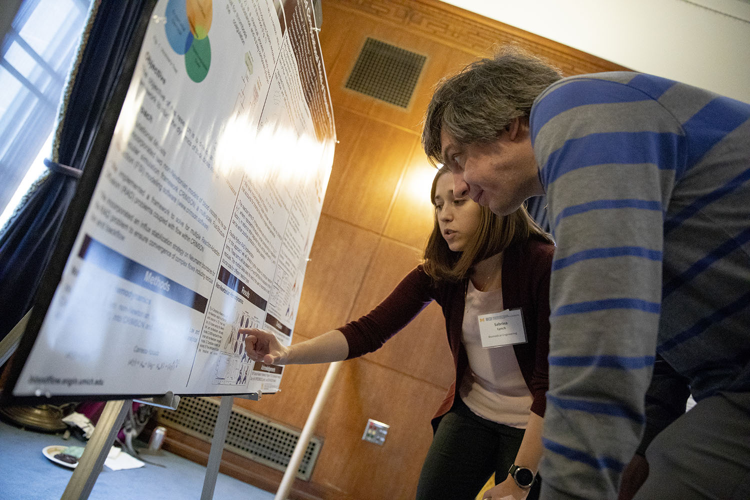 Students at MICDE poster session, 2019